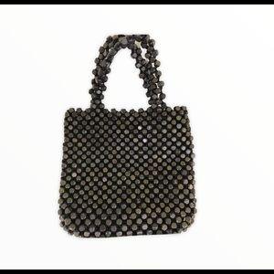 The Sak Mini Wood Beaded Bag